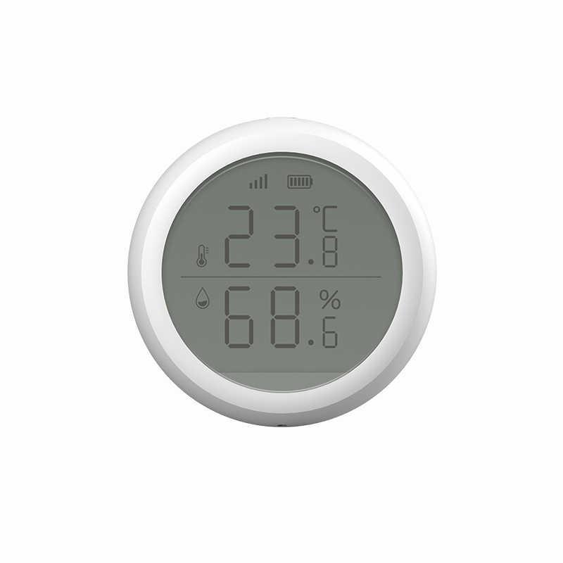 2020 最新の温度と湿度センサー液晶画面表示動作とチュウヤzigbeeハブバッテリ駆動スマートライフ