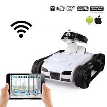цена на FPV iSPY WIFI Real-time Transmiss Mini RC Tank HD Camera Video Remote Control Robot Car Intelligent IOS Anroid APP Wireless Toys
