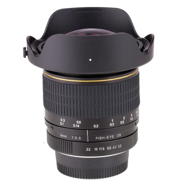 8mm F/3.0 Ultra Wide Angle Fisheye Lens for Nikon DSLR Camera D3100 D3200 D5200 D5500 D7000 D7200 D800 D700 D90 D7100  free ship