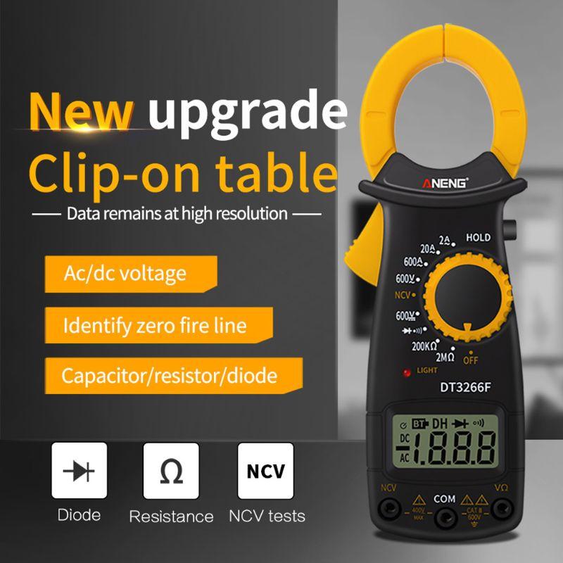 DT3266F Digital Clamp Multimeter AC/DC Voltage Ampere NCV Resistance Diode Test