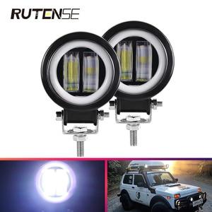 3Inch 20W LED Work Lights spotlight round light bar Waterproof Angel Eyes Offroad Motorcycle Truck Driving Car Boat ATV 12V 24V