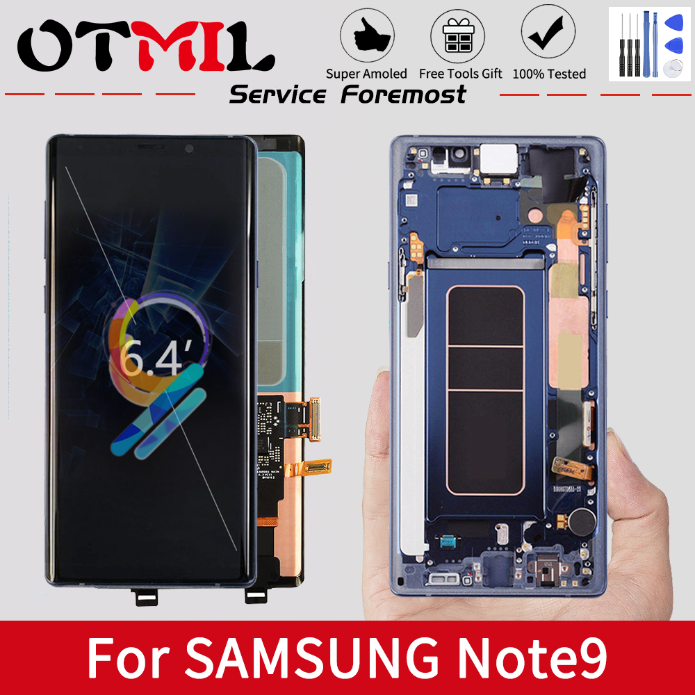 Super AMOLED <font><b>For</b></font> <font><b>Samsung</b></font> <font><b>Note</b></font> 9 LCD Display Touch Scree Digitizer N960F <font><b>For</b></font> <font><b>Samsung</b></font> <font><b>Note</b></font> <font><b>8</b></font> LCD Display image