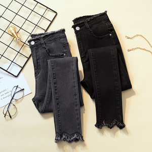 2020 Spring Jeans For Women High Waist Skinny Pencil Blue Denim Pants women Black Stretch Bottoms Slim Pants For Women Trousers