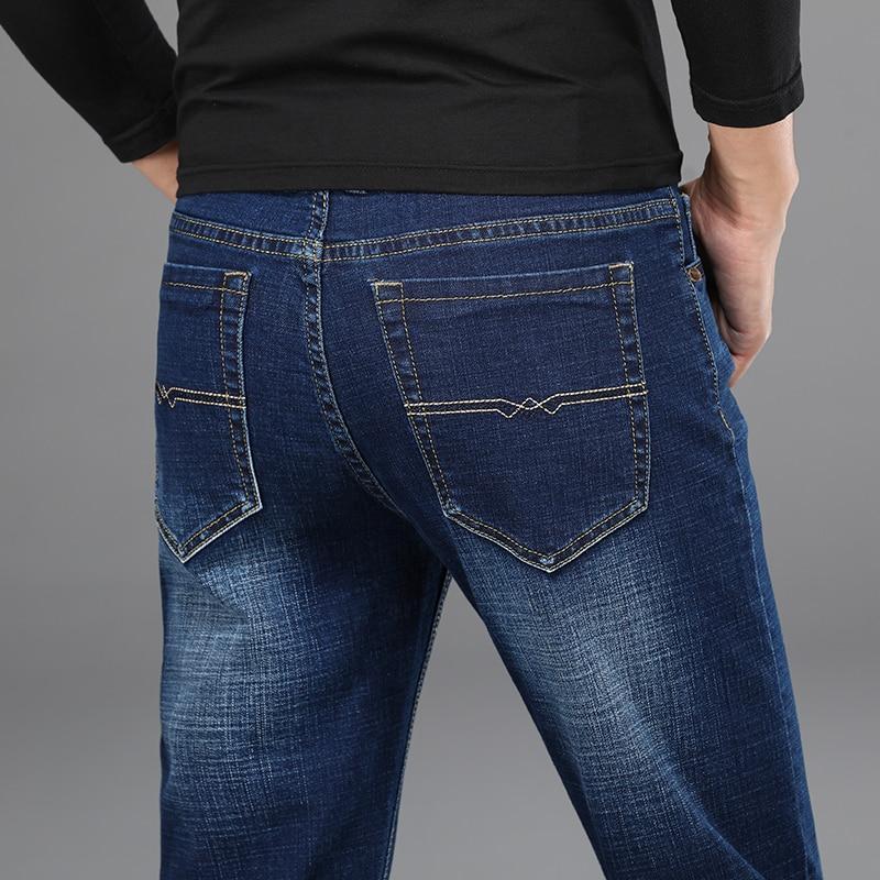 H95c48f57fed24cf39b58101b043e5908Y - 2020 New Design Jeans Mens Pants Cotton Deniem Classic Trousers Casual Stretch Slim High Quality Black Blue Multiple Styles
