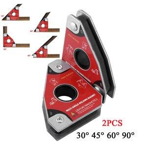 Image 5 - 2 adet çok açısı 30/60/45/90 kaynak mıknatıslar tutucu lehimleme aracı elektrik kaynak demir emme tutma manuel aracı