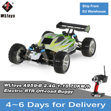 RC Auto WLtoys A959 A959B 1/18 70 Km/h Hoge Snelheid Racewagen 540 Brushed Motor 4WD Off-Road Afstandsbediening controle Elektrische Auto RTR RC Speelgoed(China)