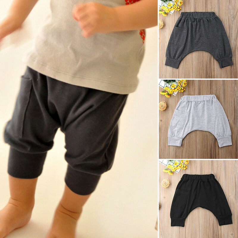 Trousers Panty Legging Bottoms Harem Toddler Newborn Boys Solid 0-5Y Harlan Kids Brand-New title=