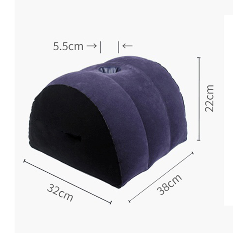 Sex Sofa Inflatable Sexual Position Pillow With Hole Half Circle Shape Aid Wedge Flocking Cushion For Couples Sex Toys