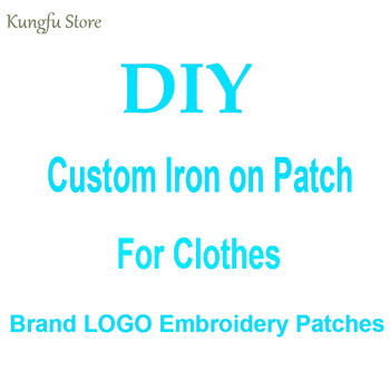 DIY Custom Brand LOGO Patches For Clothes Ironing Embroidered Patches For Clothing Stripes Sticker Sew-on Patch For Bag Washable custom embroidered patches customized logo factory direct embroidered iron on sew on patch welcome to custom your own patch