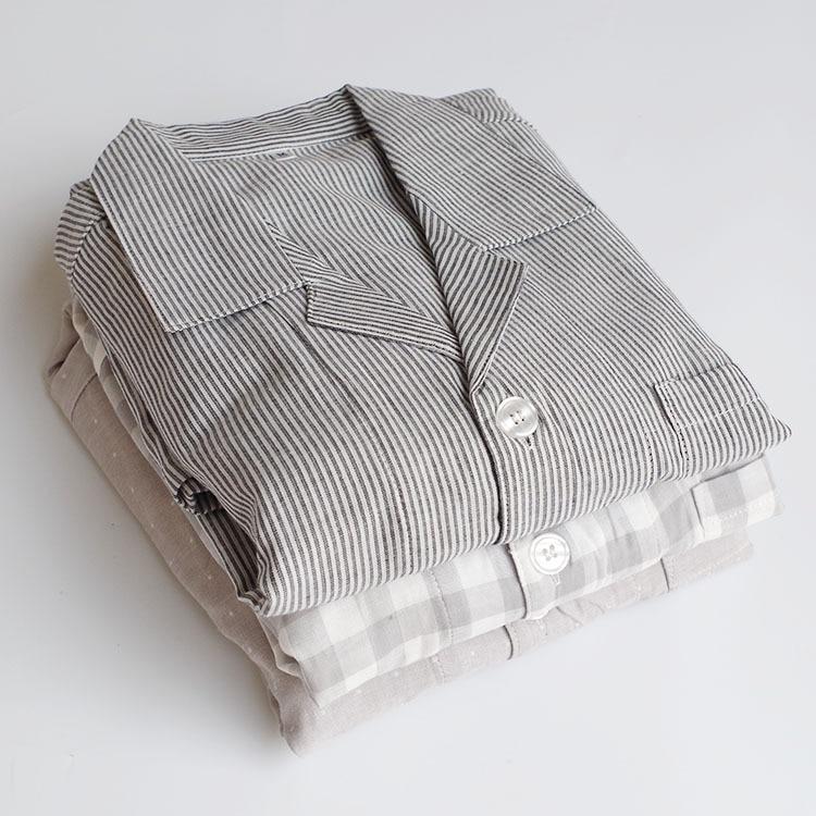 100% Cotton  Good Quality  Pyjamas Men Sleep Wear For Men Man Sleeping Clothes 1316