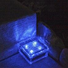 Ледяной куб солнечной энергии IP65 светильник-контролируемый рок-светильник путь уличный домашний желоб наружный дисковый светильник s наземный светильник погребенный светильник
