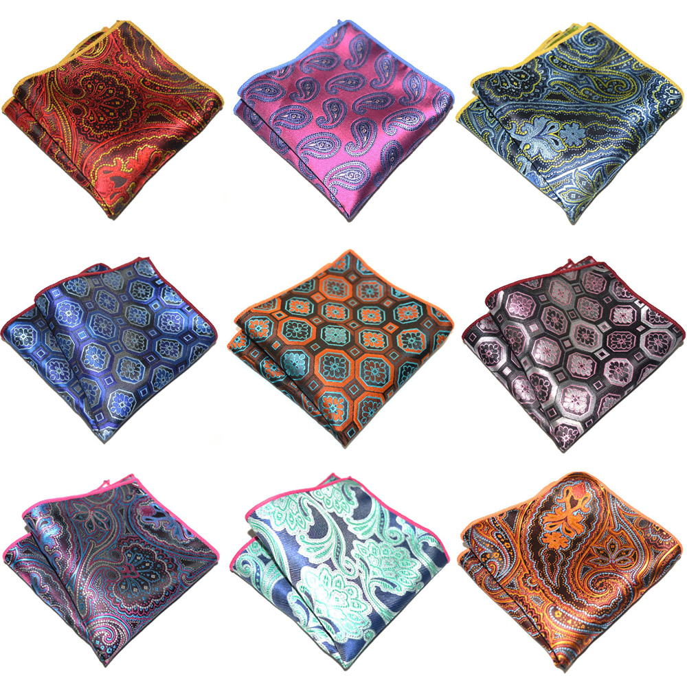 Men's Geometric Paisley Pattern Pocket Square Business Handkerchief Accessories YXTIE0311