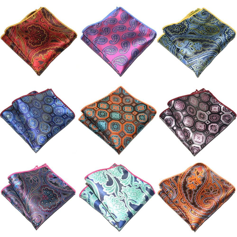 Men's Geometric Paisley Pattern Pocket Square Business Handkerchief Accessories YXTIE0311