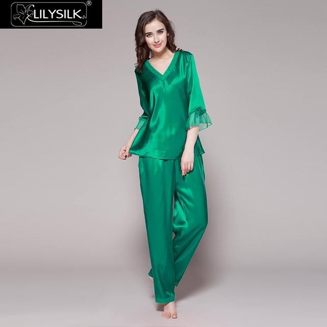 LilySilk ชุดนอนชุดผู้หญิง 100 ผ้าไหมธรรมชาติกางเกงขาสั้นกางเกงขาสั้นกางเกงขาสั้นกางเกงขาสั้นกางเกงขาสั้นกางเกงขาสั้นกางเกงขาสั้นกางเกงขาสั้นกางเกงขาสั้นชุดนอนจัดส่งฟรี Clearance ขาย