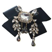 Модная большая брошь цвета шампанского с австрийским кристаллом