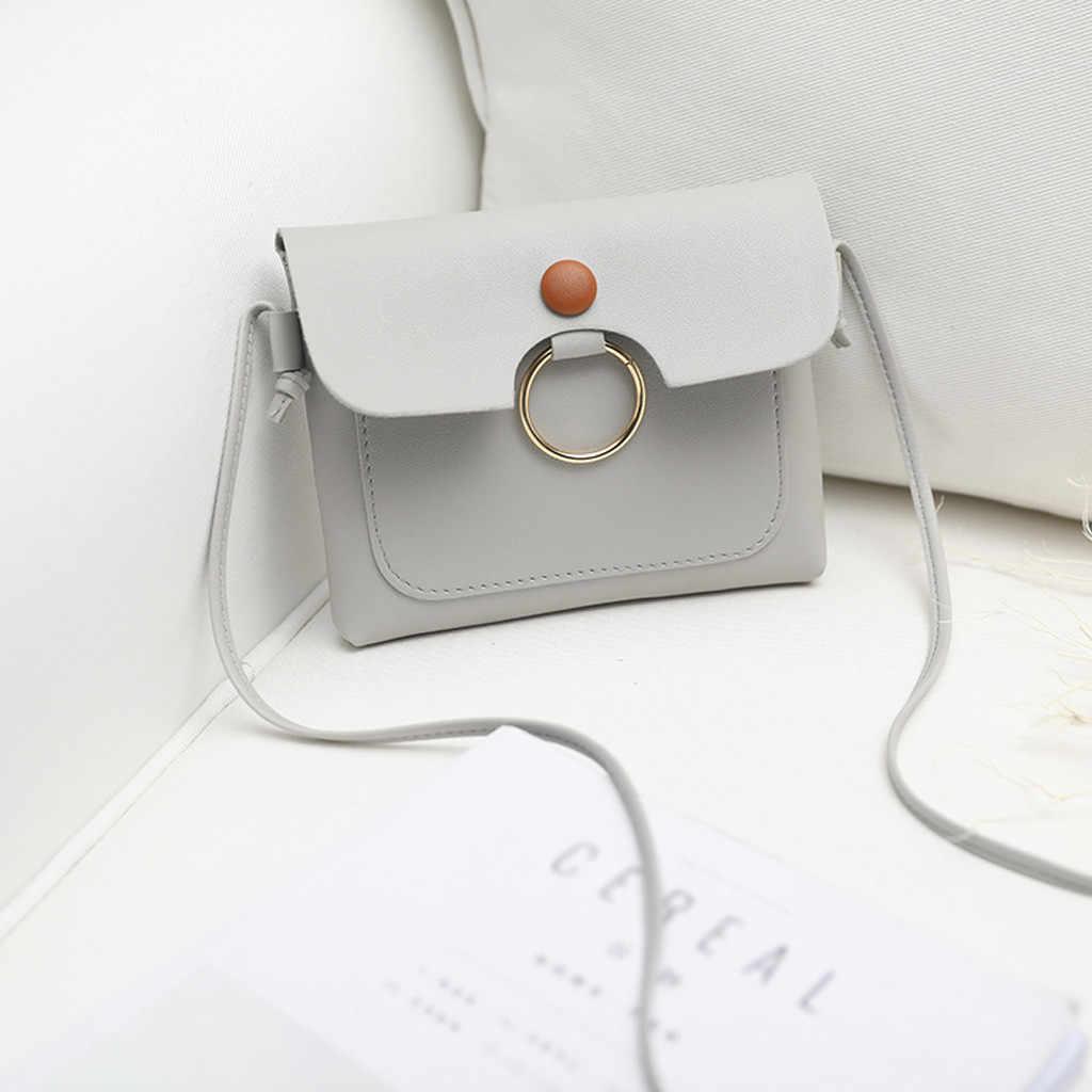 Tas Selempang untuk Wanita 2019 Fashion Kualitas Warna Solid Bahu Tas Segar Multi-Fungsi Koin Dompet Wanita Selempang Mini tas