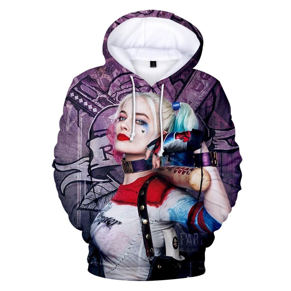 Movie Joker And Harley Quinn 3D Hoodies Men/women Hot Sale Classic Jared Leto And Maegot Robbie Couples Sweatshirt Casual Tops