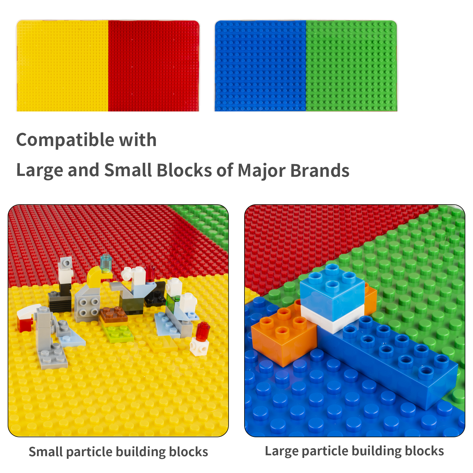 SEMBO Multi-Function Building Blocks Table With Chairs Small and Big Particles Baseplate Desk