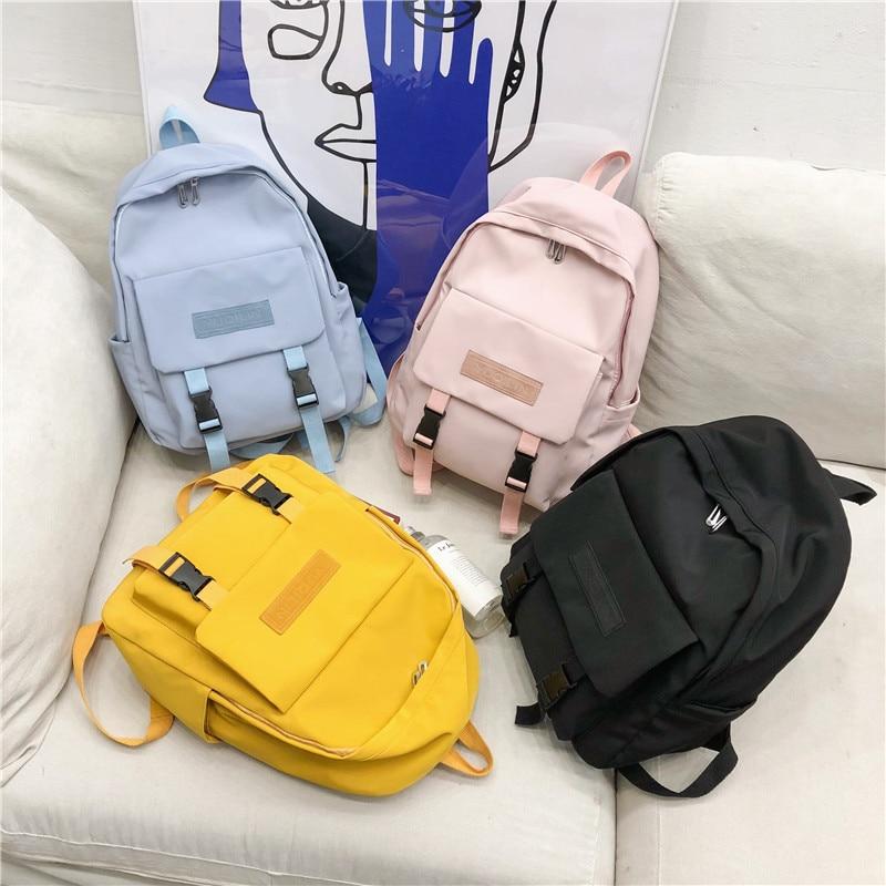 Puimentiua New Waterproof Nylon Backpack for Women Multi Pocket Travel Backpacks Female School Bag Teenage Girls Book Mochilas in Backpacks from Luggage Bags