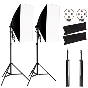 Image 1 - Photography Softbox Lightbox Kit 2PCS Soft Box PCS Light Stand 2PCS 4 Socket Lamp Holder Photo Studio Lighting Equipment