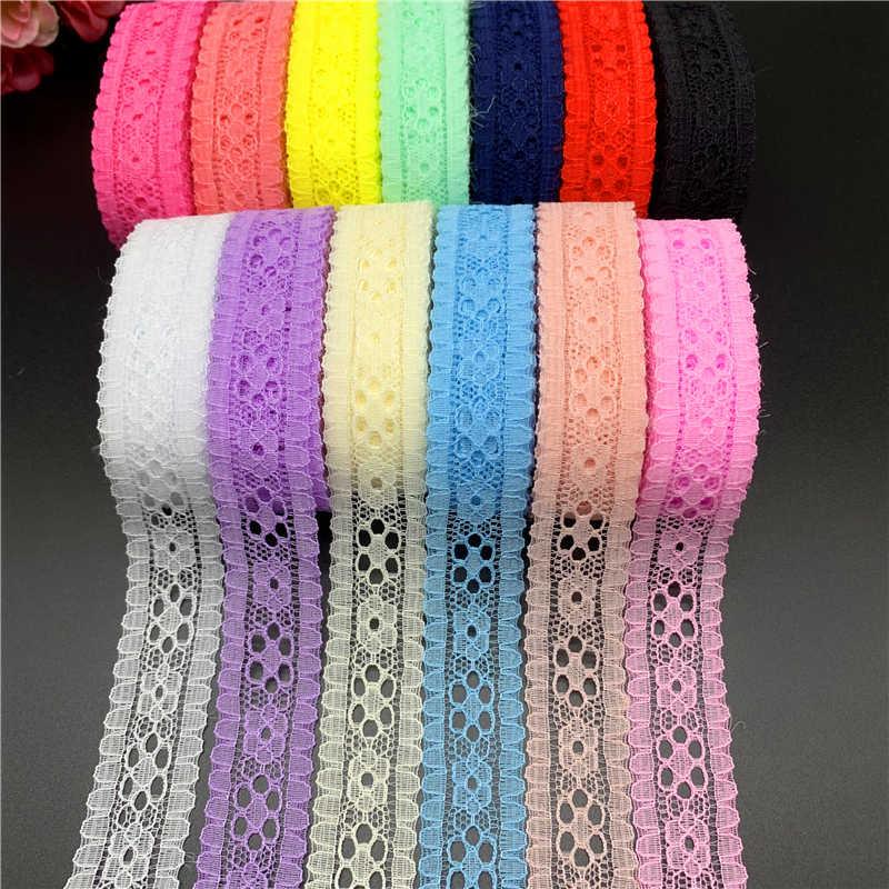 5 ярдов/партия 20 мм кружевная тесьма с вышивкой кружевная ткань украшения Ручное шитье для поделок ремесла последняя кружевная ткань в африканском стиле