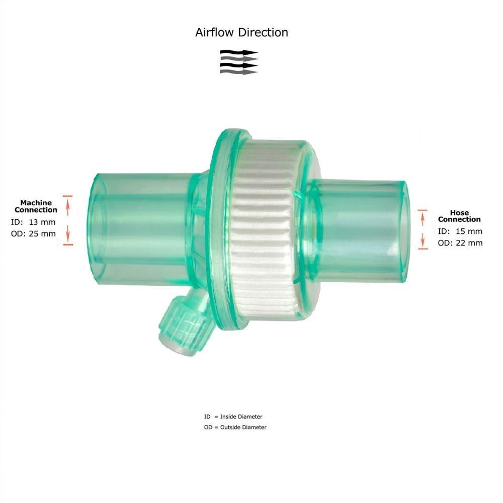 MOYEAH CPAP APAP BiPAP bakterii wirusowe filtry do spania maska wąż anty chrapanie bakterii filtr dla wszystkich marek CPAP maszyny