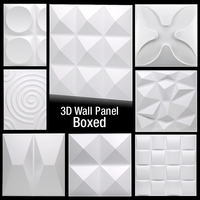 3D Plastic Wall Panel Decor Stickers