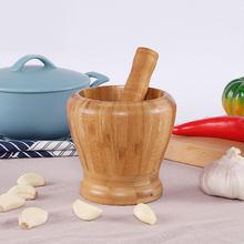 Molinillo de pimienta de madera, mortero, maceta para pujar, ajo, especias, molinillo para cuenco de hierbas, molino de cocina trituradora, S/M/L, 3 tamaños