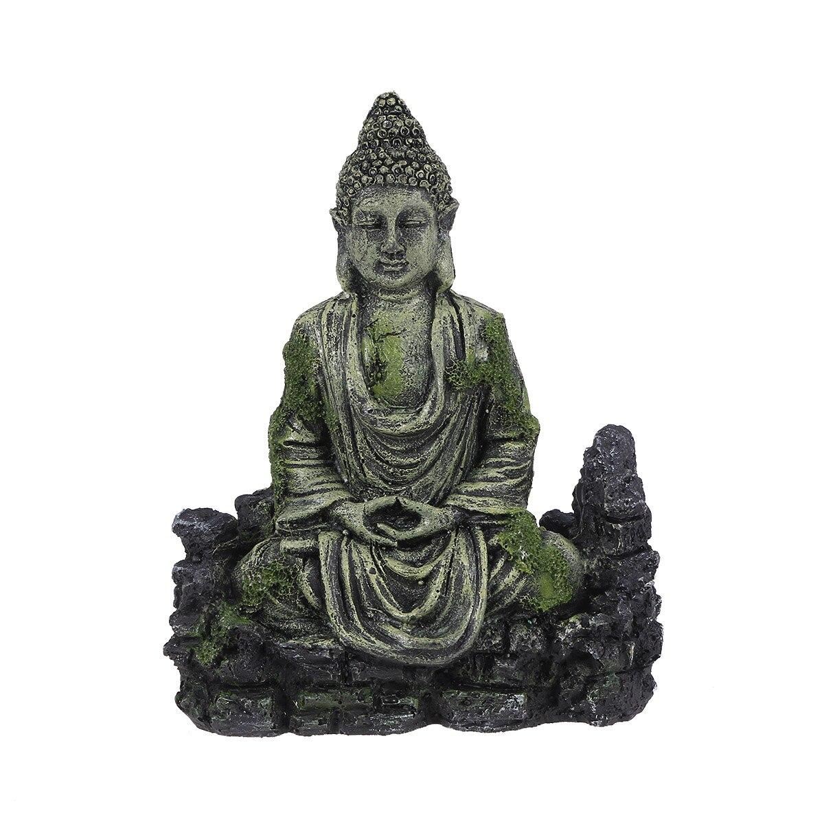 Камни для сада камней статуя смолы декоративные камни для сада камней статуя аквариума сидящий Будда статуя декор аквариума рептилии Танк ...