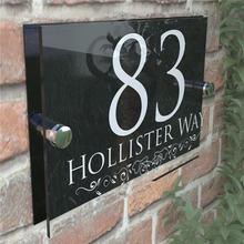 Дверные тарелки с номером дома Индивидуальные Прозрачные Акриловые