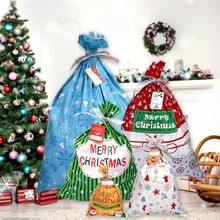 Behogar 22pcs Assorted Size Christmas Gift Bag Plastic Candy Cookie Treat