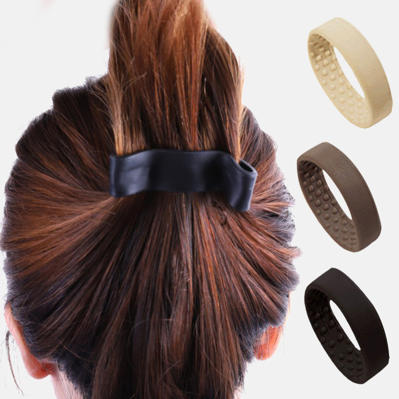 1PCS Fashion Silicone Stationarity Elastic Hair Bands For Women Ponytail Holder Tools Simple Multifunction Hair Accessories