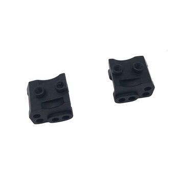 2 uds CNC aluminio delantero trasero inferior choque enlace montaje para RC 1/10 Rock coche Axial SCX10-II 90046 90047 AR44 eje, negro