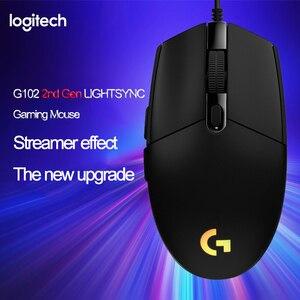 Image 1 - Logitech G102 LIGHTSYNC 2nd Gen przewodowa mysz do gier mysz optyczna do gier wsparcie pulpit/laptopa windows 10/8/7 2Gen mysz optyczna