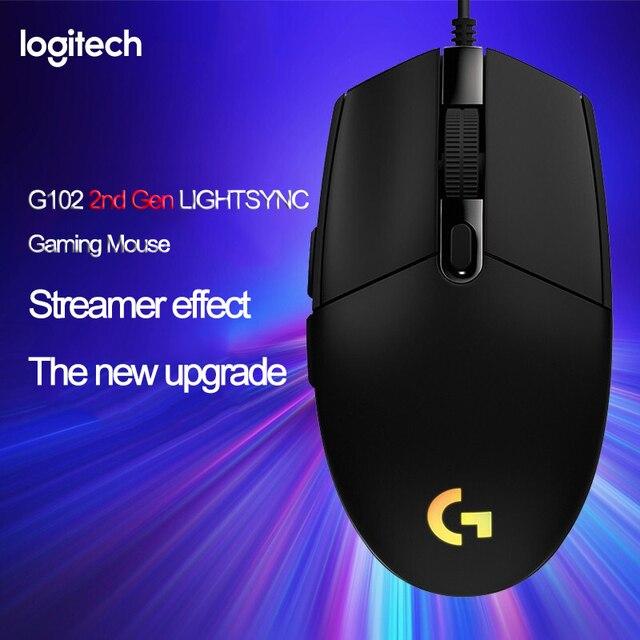 Logitech G102 LIGHTSYNC 2nd Gen przewodowa mysz do gier mysz optyczna do gier wsparcie pulpit/laptopa windows 10/8/7 2Gen mysz optyczna