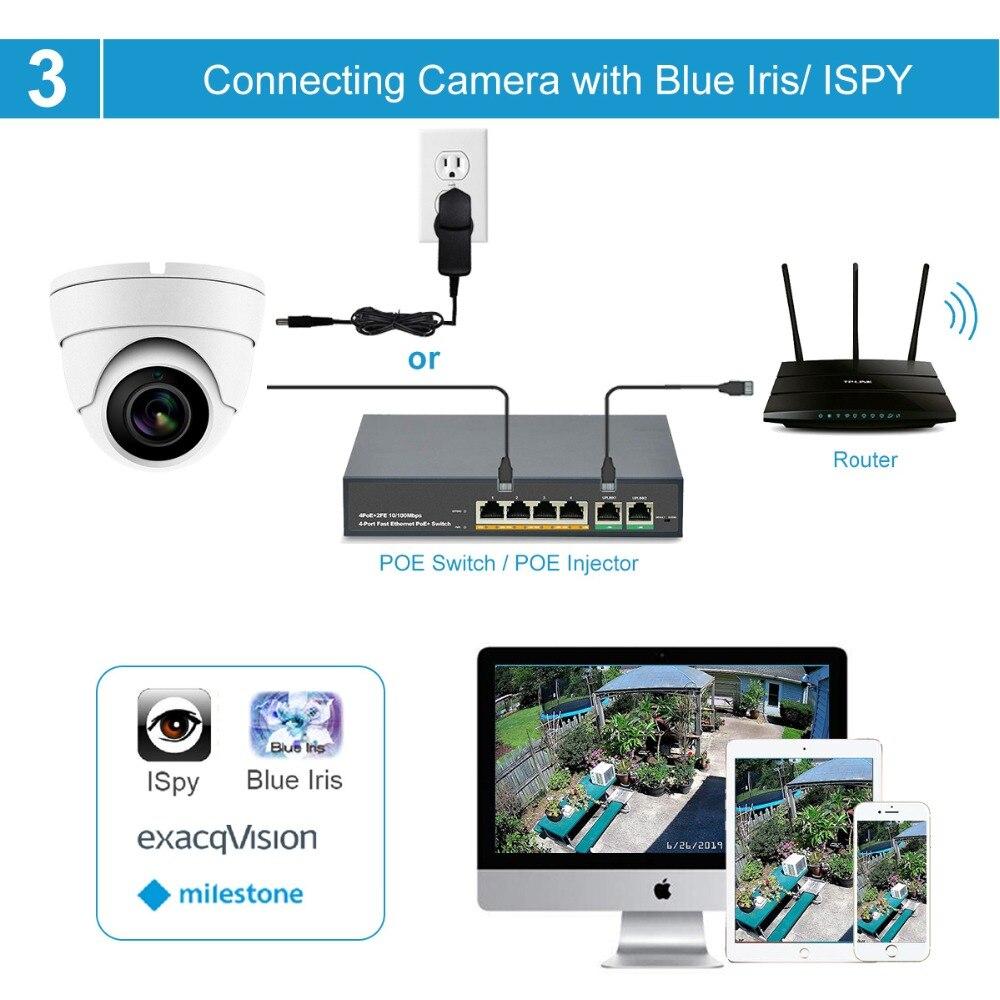 UniLook (Hikvision Compatível) 5MP Cúpula POE Câmera