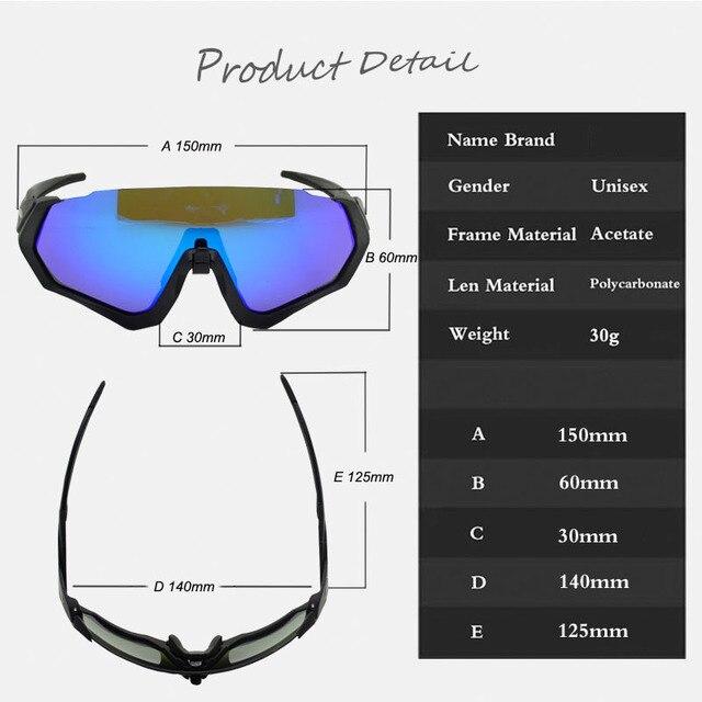 Esportes ao ar livre óculos ciclismo mountain bike bicicleta equitação óculos ao ar livre óculos à prova de vento 6