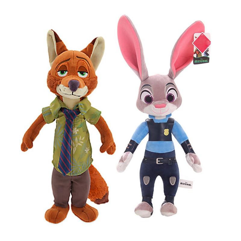 Disney Zootopia Nick Wilde Judy Hopps Stuff Plush Cute Hot Toy Doll Model Gift for Children