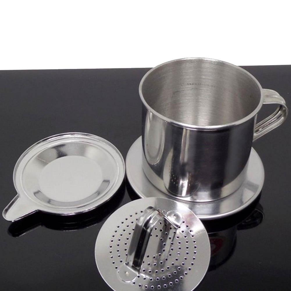 50/100ml <font><b>Vietnam</b></font> Style Stainless Steel <font><b>Coffee</b></font> Office Home Drip Filter <font><b>Maker</b></font> Pot Infuse Cup image