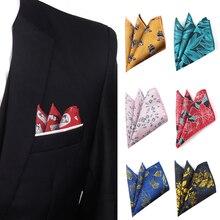 Мужчины носовой платок полиэстер ткань мультфильм узор платок повседневный карман квадрат для мужчин грудь полотенце для бизнеса свадьба платки