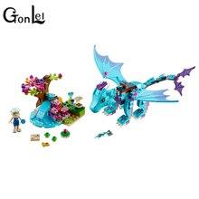 214 adet/takım su ejderha macera yapı tuğlaları blokları DIY eğitici oyuncaklar ile uyumlu Lepining elfler