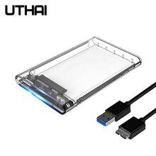 UTHAI G06 USB3.0 HDD корпус 2,5 дюймов последовательный порт SATA SSD жесткий диск коробка Поддержка 6 ТБ Прозрачный Мобильный Внешний HDD Чехол