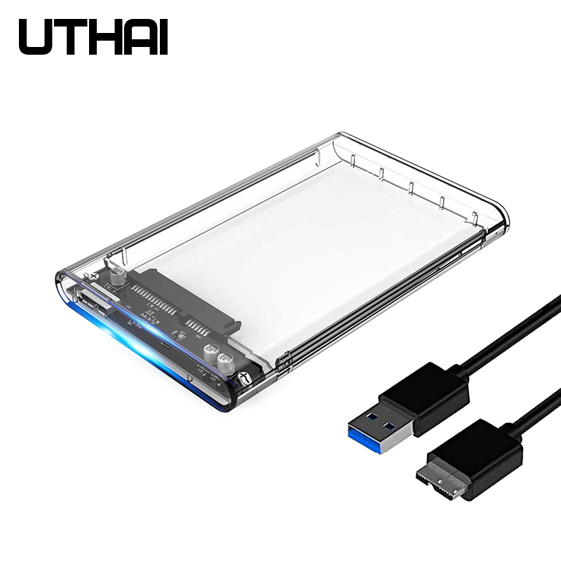 UTHAI G06 USB3.0 HDD Enclosure 2.5 Inch Serial Port SATA SSD Hard Disk Box Support 6TB Transparent Mobile External HDD Case