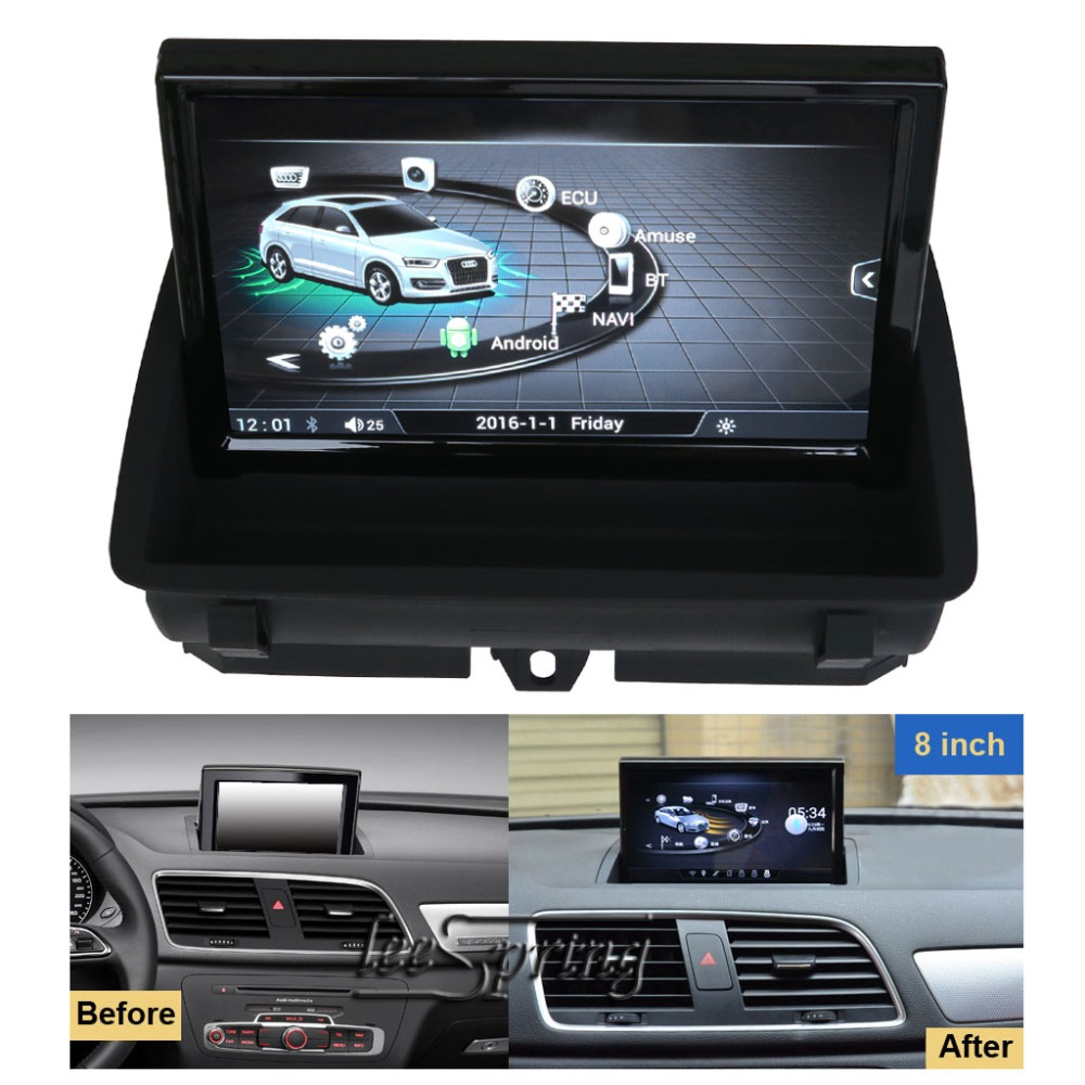 8 Inch Car Multimedia Player For Audi Q3 2012-2017 With GPS Navigation MP5 Wifi (NO Mirror-link Function)