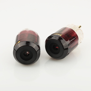 Image 3 - Бесплатная доставка, одна пара, 24k, позолоченная стандартная штепсельная вилка европейского стандарта + женский разъем стандарта IEC для самостоятельной сборки аудио