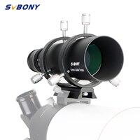 SVBONY 50mm Guide Scope Finderscope CCD Image Guide Scope w/Bracket 1.25\'\' Double Helical Focuser for Astronomy Monocular Telesc
