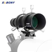 SVBONY 50mm Guide Scope Finderscope CCD Image Guide Scope w/Bracket 1.25 Double Helical Focuser for Astronomy Monocular Telesc