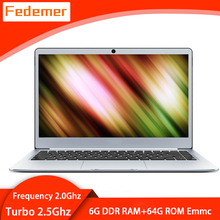 Notebook Computer Laptop 14inch Windows-10 Support J3355 Ultrathin 1080p HD with 6