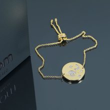 2019 new fashion 925 sterling sliver moon shooting design pendant bracelets brand luxury chain bracelets women lady girl(China)