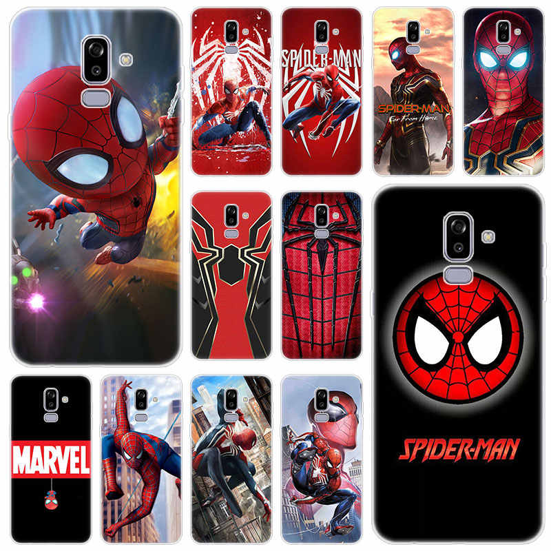 Hot Marvel hero Spiderman Silicone Case for Samsung Galaxy J2 Pro J4 Plus J6 J7 Prime J8 2018 J4 Core J3 2016 J5 2017 EU Cover